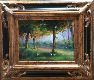 """A Fairy Lovely Place"" oil on canvas 12x16  $750"